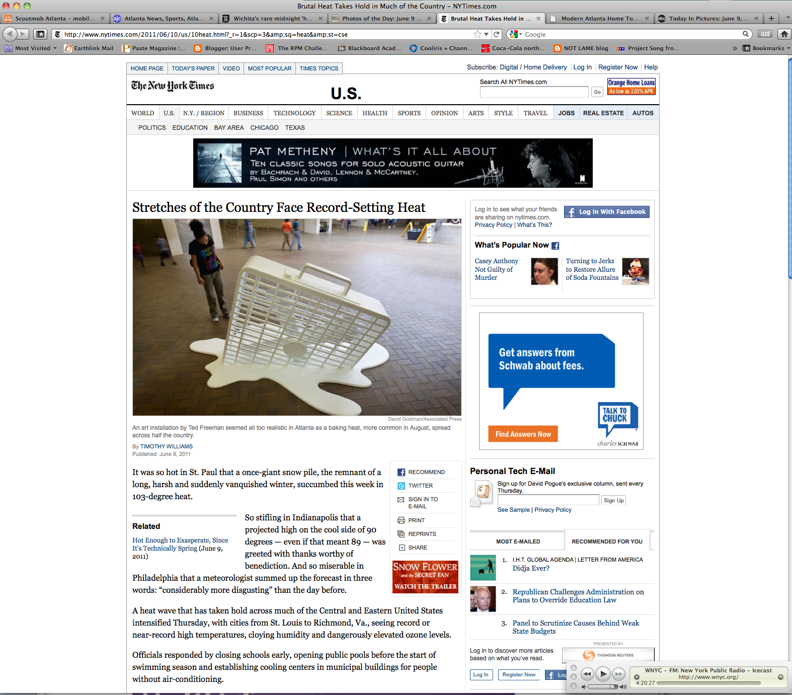 Screen shot nytimes with my byline